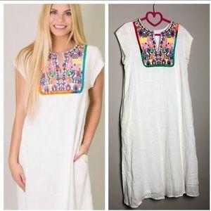 Anthropologie Ella Mara Oxaca boho Kaftan dress